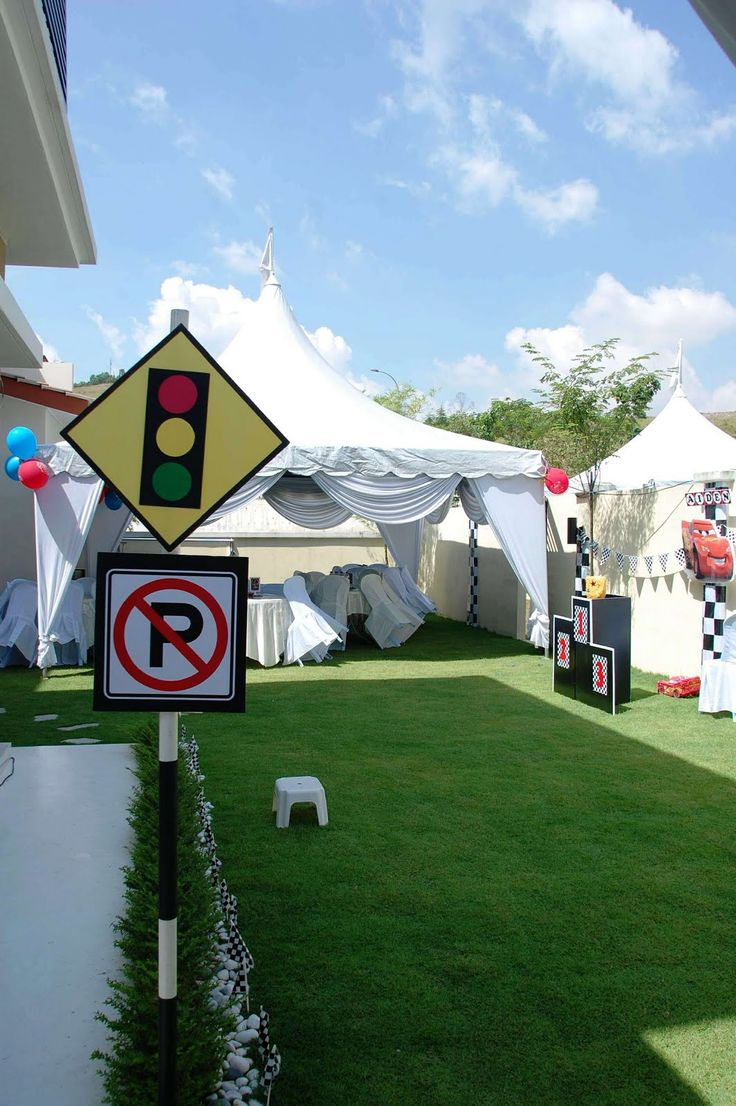 Traffic signs. Lizzie as a Mummy: Raw Pictures from Aiden's Disney Cars 2nd Birthday!