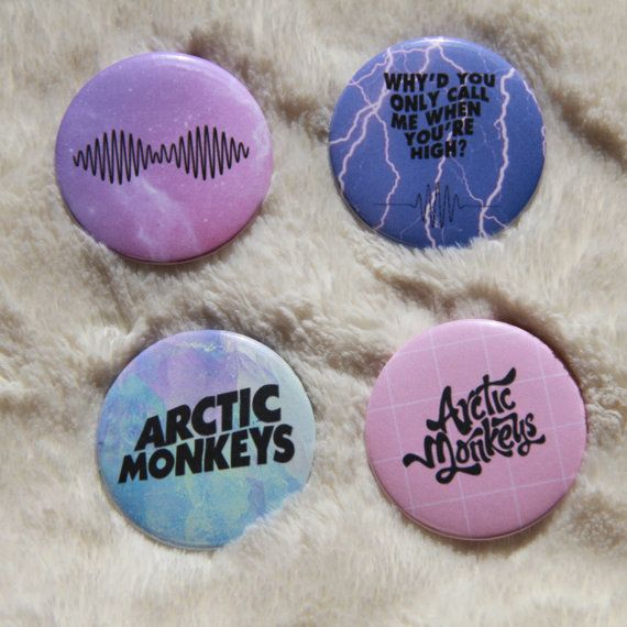 Arctic Monkeys pastel buttons by Totally2blr on Etsy