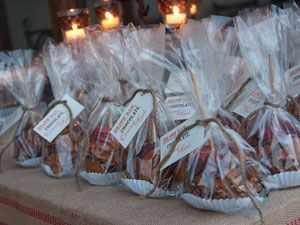 caramel apple gifts to go -  Fall Dinner Party Ideas - Fall Entertaining Tips - Country Living