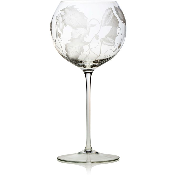 Handmade glass blown Baloon Wine Goblet, Prairie-Clear 3300, height: 229 mm | diameter: 114 mm | volume: 560 ml | Bohemia Crystal | Crystal Glass | Luxurious Glass | Hand Engraved | Original Gift for Everyone | clarescoglass.com