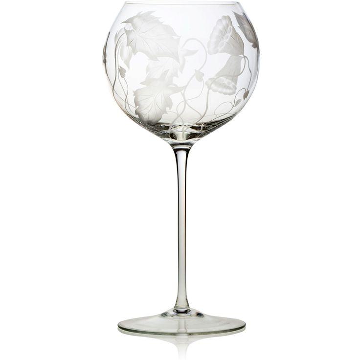 Handmade glass blown Baloon Wine Goblet, Prairie-Clear 3300, height: 229 mm | diameter: 114 mm | volume: 560 ml | Bohemia Crystal | Crystal Glass | Luxurious Glass | Hand Engraved | Original Gift for Everyone | clarescoglass.com