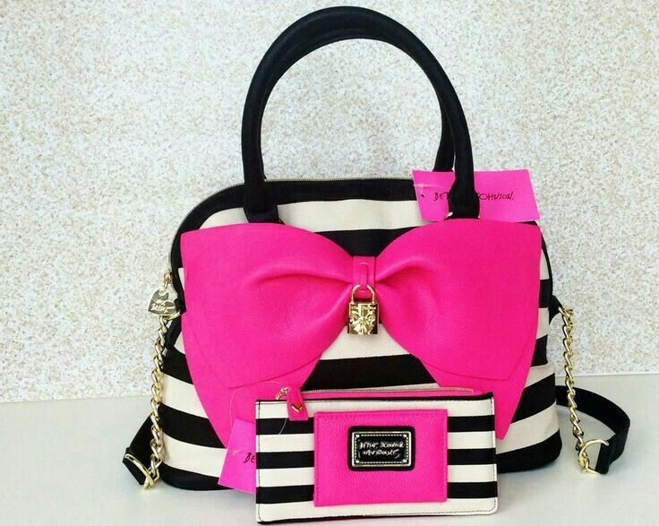 Image Uploaded By Emeralddjewelss Find Images And Videos About Pink And Betsey Johnson On We Heart It The App To Get Lost In Wh Striped Handbag Bags Purses