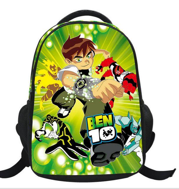 2016 New Arrival Ben 10 Children School Backpack for Boys Girls Cartoon Nylon Br…