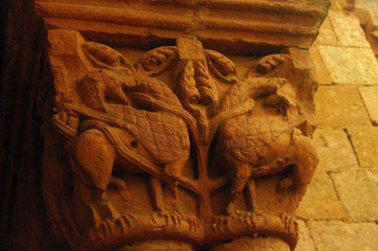 Soria - Tiermes - Ermita de Santa María - Románico - Capitel