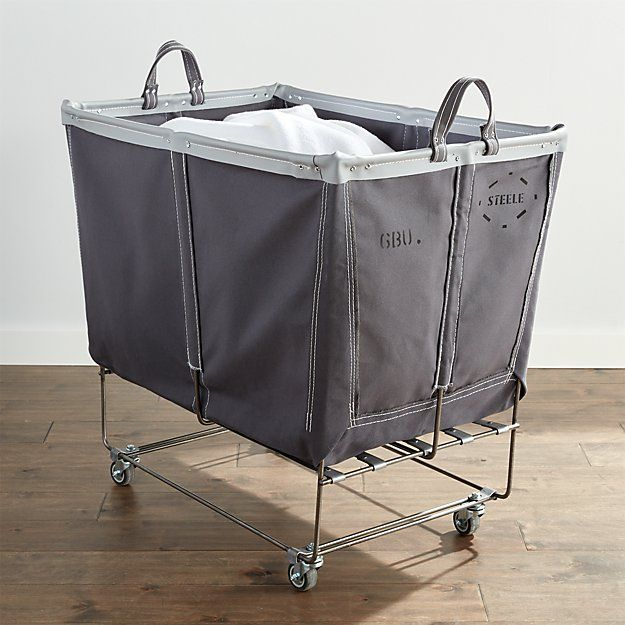 Steele Large Elevated Laundry Basket Briquette Crate And Barrel