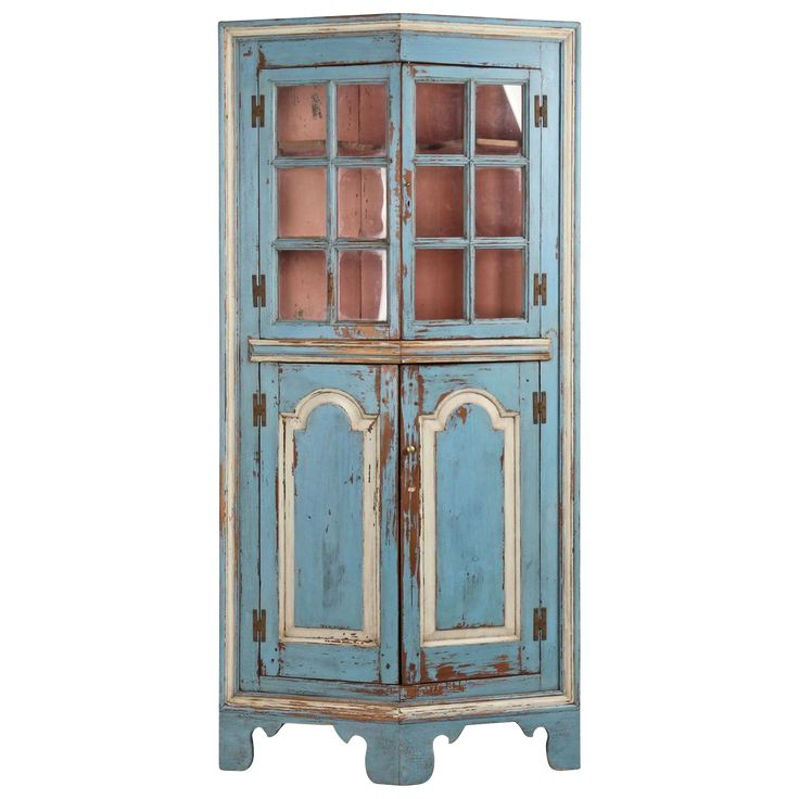 American Chippendale Raised Panel Antique Corner Cabinet Possibly Eastern Shore Late 18th