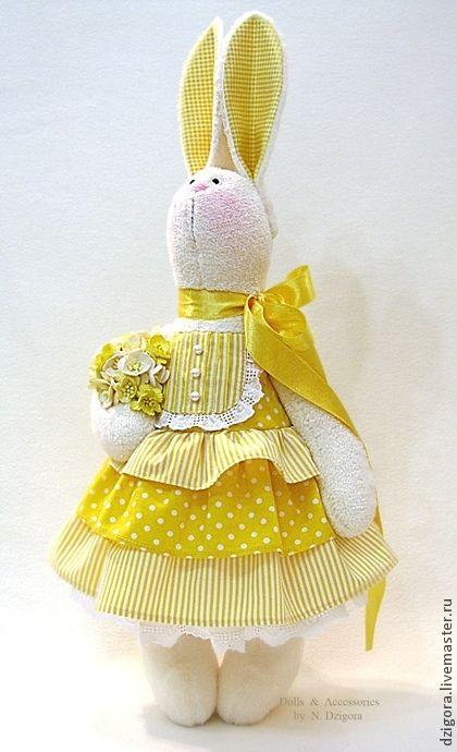 Зайка солнечного цвета - зайка,зайка игрушка,заяц,заяц игрушка,зайка девочка