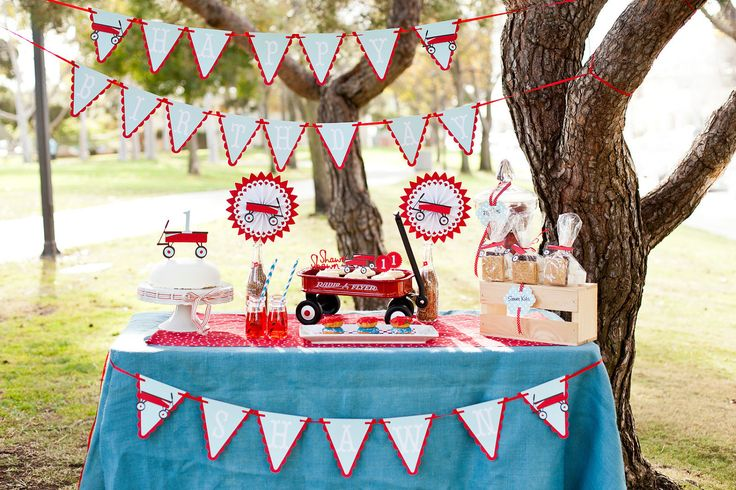 Radio Flyer Little Red Wagon Birthday or Baby Shower Party Package