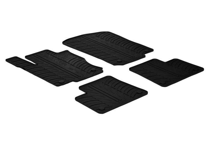 Gledring 2012-2015 Mercedes Benz ML-Class (W166) Custom Fit All Weather Floor Mats - Protect your car floor carpet with these custom molded rubber floor mats. This 4 piece set will cover the floor area for the front and rear seats. The rubber material will hold the floor mats in place. These mats also have holes for the factory floor anchors for an even more secure fitting. There is no trimming needed. Just set them in place and secure the front floor mat anchors in place. These heavy duty…