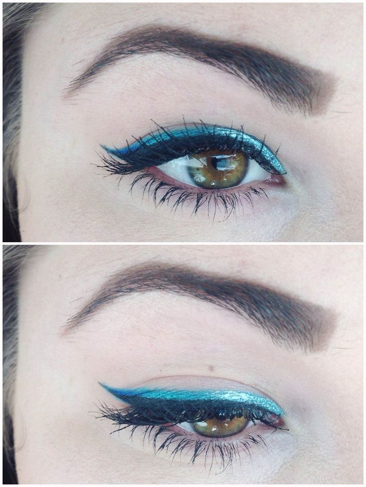 Makeup of the Day: SILVER2BLUE OMBRE WINGED LINER by Rosedale. Browse our real-girl gallery #TheBeautyBoard on Sephora.com & upload your own look for the chance to be featured here! #Sephora #MOTD
