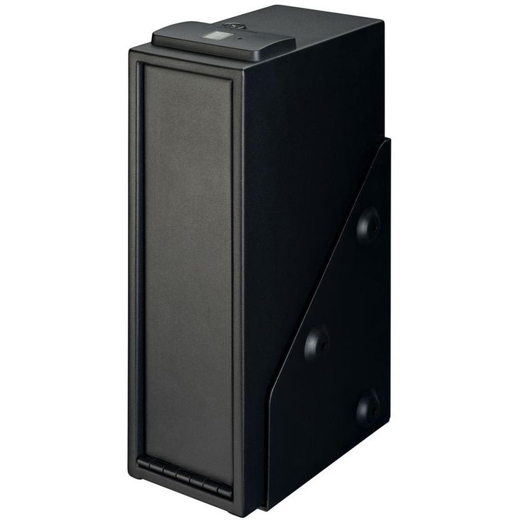 New Quick Access Safe Single Gun with Biometric Lock, Shelf, Black