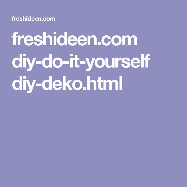 freshideen.com diy-do-it-yourself diy-deko.html