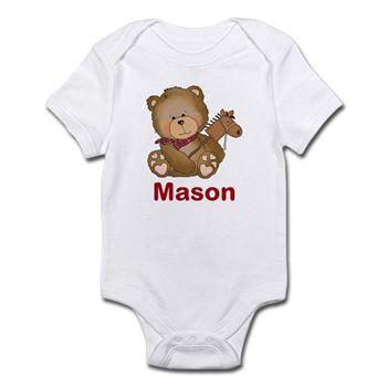 Mason's Cowboy Bear Infant Bodysuit