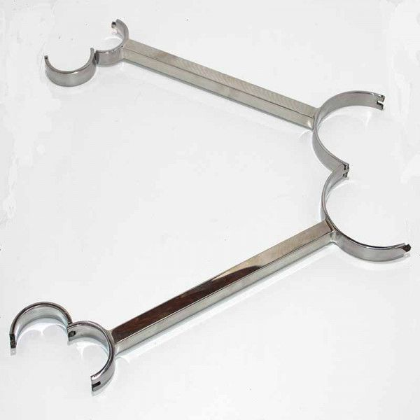 Metal Neck and Wrist Restraint with Fixed Bar - Adult Gifts Australia