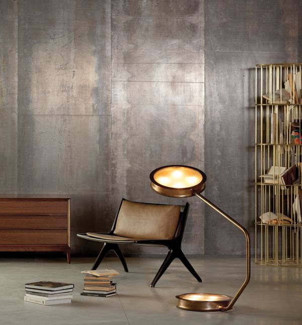 The After Glow Floor Lamp Designed By Vincenzo De Cotiis Is A Chic  Burnished Brass Floor Lamp With Tempered Glass.