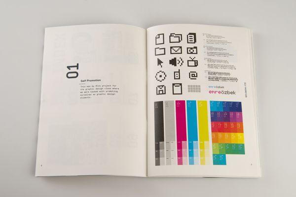 Portfolio Booklet by Emre Ozbek, via Behance