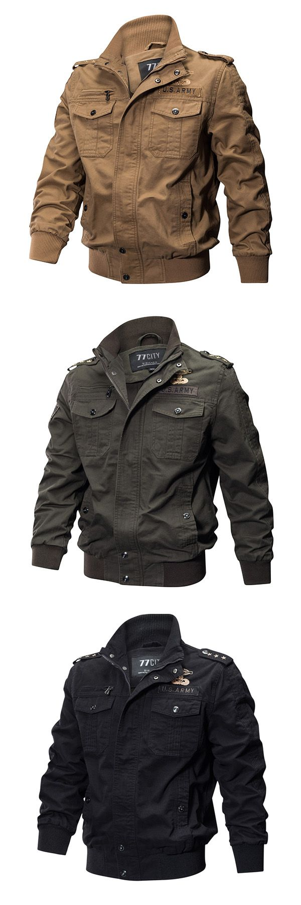 Here's Stylish Military Jackets for You. Max Size: XXXXL. Suits you perfectly.