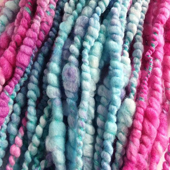Pinky Perky Handspun Art Yarn for Sale Handspun Yarn by Artyfibres
