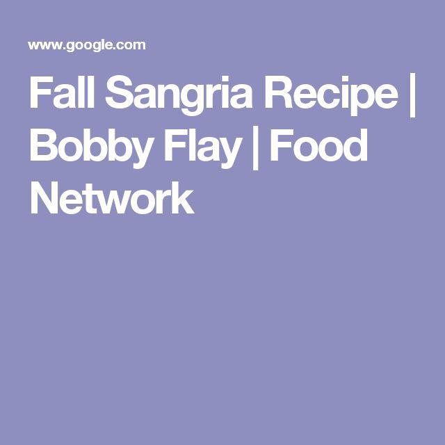 Fall Sangria Recipe | Bobby Flay | Food Network