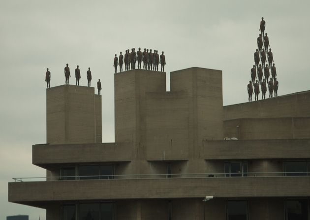 Anthony Gormley Figures at The South Bank, London