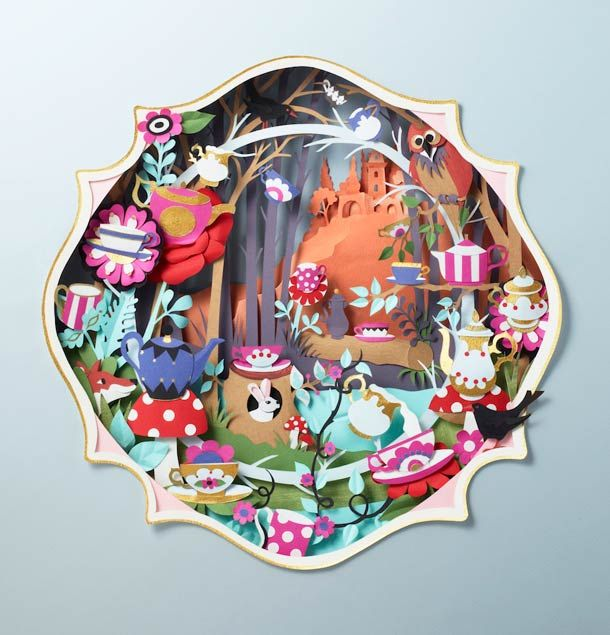 The beautiful paper creations by British artist Helen Musselwhite, based in Manchester. Some delicate, subtleand colorful creations with paper cut and assembl