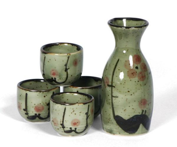Buy Miya Japanese Ceramic Sake Set Of Four Sushi Character   Miya Japanese  Tableware Gifts   For Sale At Artcraft Gifts