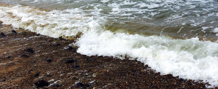 Crashing waves falling down