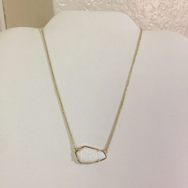 Kendra Scott Gold Cami Necklace In White Kyocera Opal for $95.00. Check it out: http://www.vinted.com/accessories/necklaces/22089637-kendra-scott-gold-cami-necklace-in-white-kyocera-opal.
