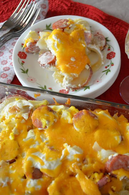 Rakott Krumpli (Hungarian Casserole)<<< May use less sour cream or yogurt