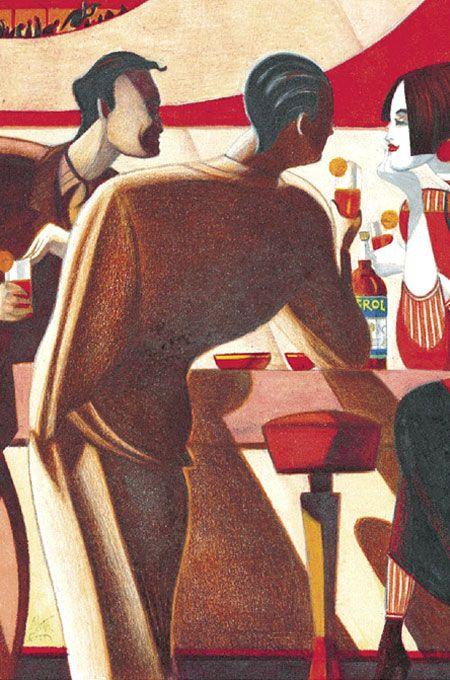 Aperol Bar - Poster by Lorenzo Mattotti
