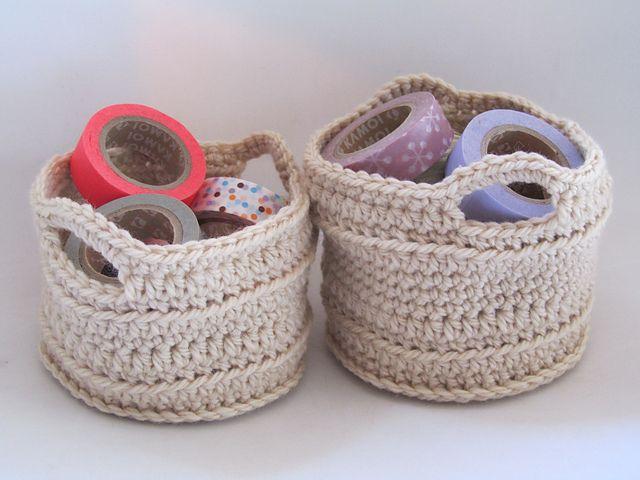 Ravelry: Chunky Crocheted Basket pattern by Elizabeth Trantham