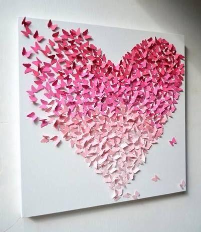 ¿Os gustan las mariposas? ;) #Amor #Love #Manualidades