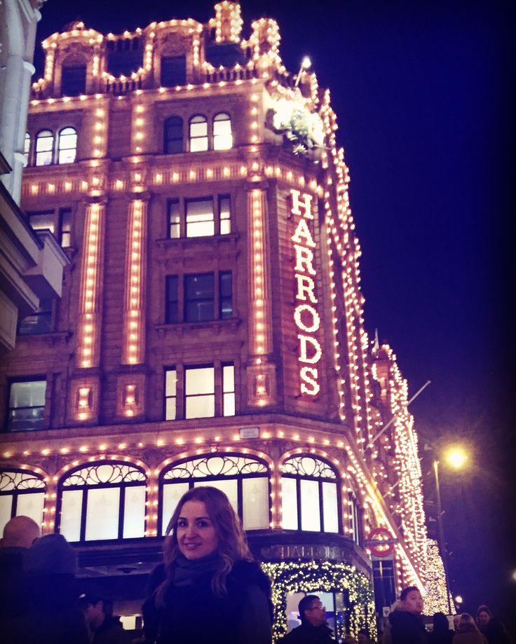London Christmas lights Harrods London