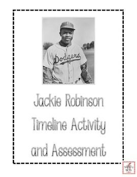 With this fun and free social studies activity from Workshop to the Core, students will have the opportunity to explore the life of Jackie Robinson by  -ordering the major events of Jackie Robinson's life -using a graphic source (timeline) to answer comprehension questions about Jackie Robinson's life -using math computation skills to interpret data on the timeline  This product includes an illustrated and non-illustrated version of the timeline cards, so that you may select the option you…