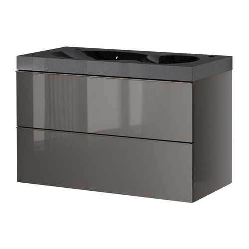 Ikea Grundtal Glass Bathroom Shelf ~ GODMORGON BREDVIKEN Sink cabinet with 2 drawers IKEA 10 year Limited