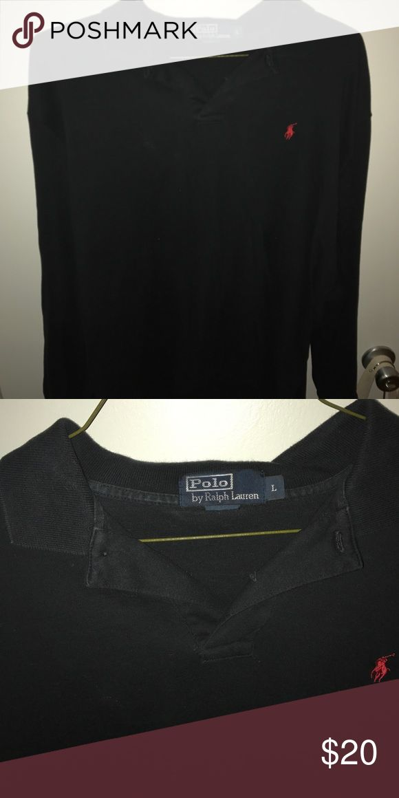 POLO by Ralph Lauren black long sleeve polo Excellent used condition Polo by Ralph Lauren Shirts Polos