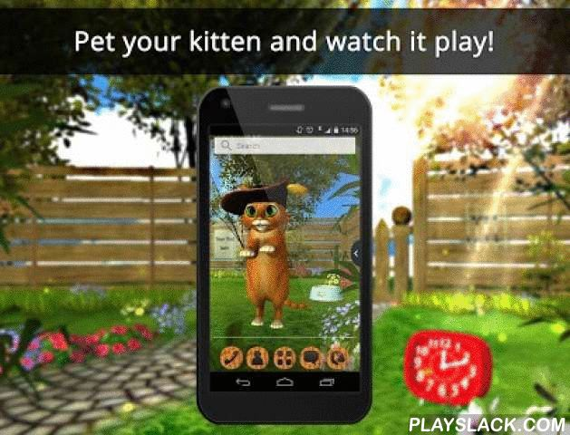 UR 3D Cute Kitten Wallpaper  Android App - playslack.com ,  Do you love cute little kittens? Show your love for these fluffy kittens by having them in your smartphone's background. Pet them, play with them and even give them kisses! Interactive and adorable, these balls of fur will brighten your day every time you use your phone. Adopt your own and give it a name! This HD wallpaper offers many different angles so you can watch these adorable babies run around and play. Download this 3D live…