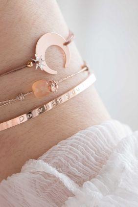 Moon bracelet - cosmic jewelry. #bracelet #rosegold WWW.NEWONE-SHOP.COM