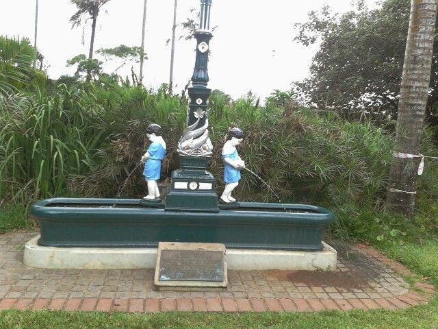 Horse water trough - originally on corner of West St & Point Rd now in Botanic Gardens Durban ...