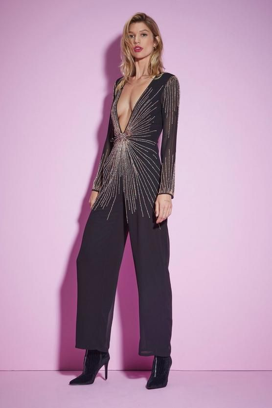 7d92871933b8db Nasty Gal Studio Best Dressed Beaded Jumpsuit | Shop Clothes at ...