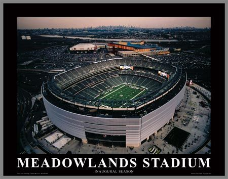 New York Jets Wood Mounted Poster Print - New Meadowlands Stadium - Med