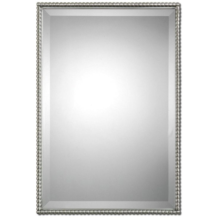 Chrome Framed Bathroom Mirrors best 25+ brushed nickel mirror ideas on pinterest | white vanity