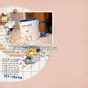 Day Started by Rae at The Lilypad using digital scrapbooking products from The Lilypad
