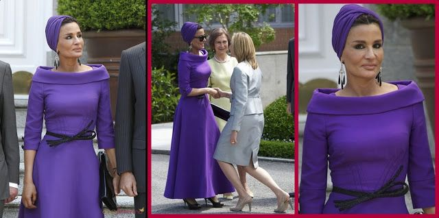 Seby Fashion: Katar emirinin güzel eşi,Sheikha Mozah'ın Muhteşem Kıyafetleri..!
