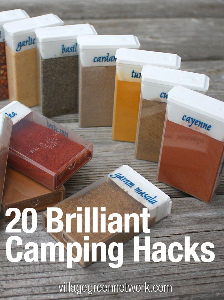 20 Brilliant Camping Hacks -- tricks and tips to make this year's camping trips easier and more enjoyable