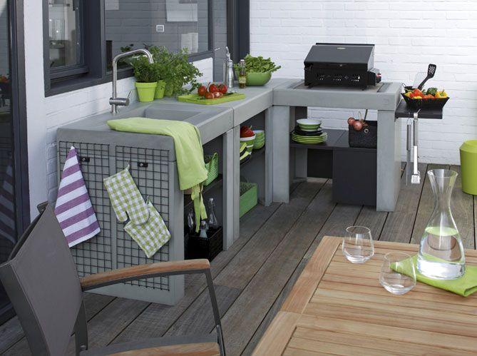 les 25 meilleures id es concernant cuisine d t ext rieure sur pinterest cuisine d 39 ete. Black Bedroom Furniture Sets. Home Design Ideas