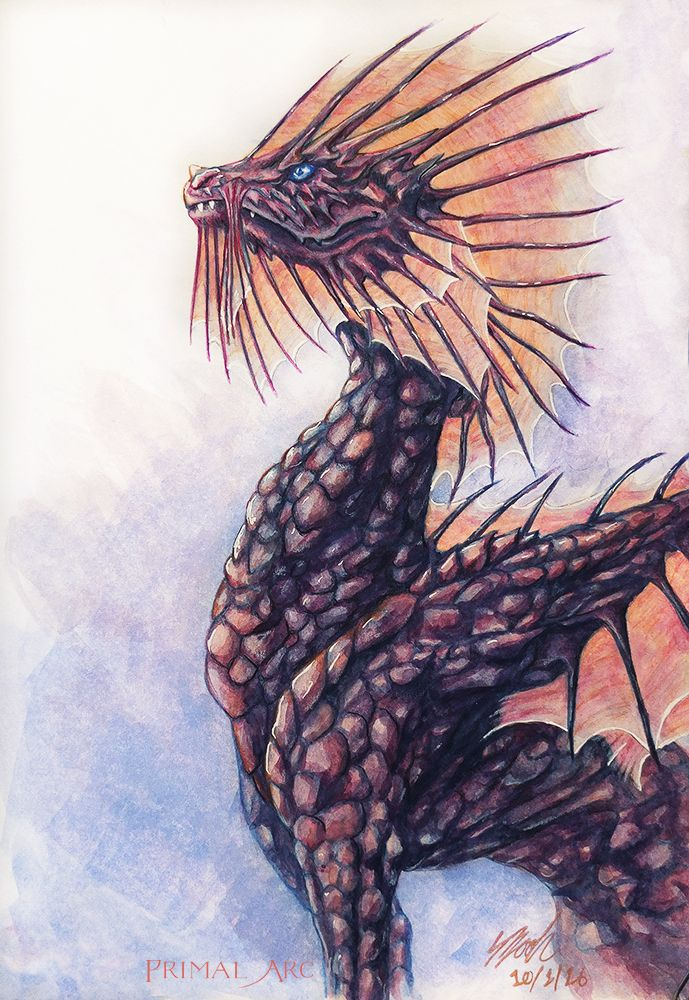 'Ore Dragon', watercolour. www.primalarc.com