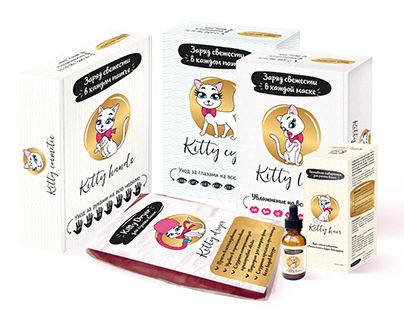 """Check out new work on my @Behance portfolio: """"Kitty cosmetic"""" http://be.net/gallery/52884311/Kitty-cosmetic"""
