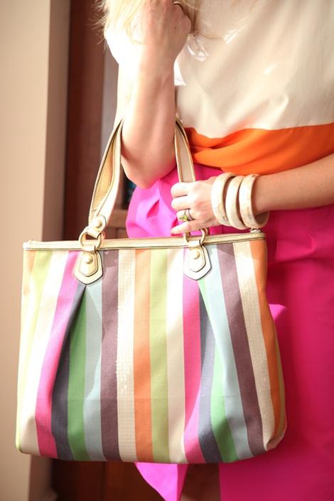 Cute: Color Blocking, Coach Handbags, Pink Orange, Coach Legacy, Colorblock, Colour Blocks, Colors Blocks, Bags Purses Totes, Pure All Bags