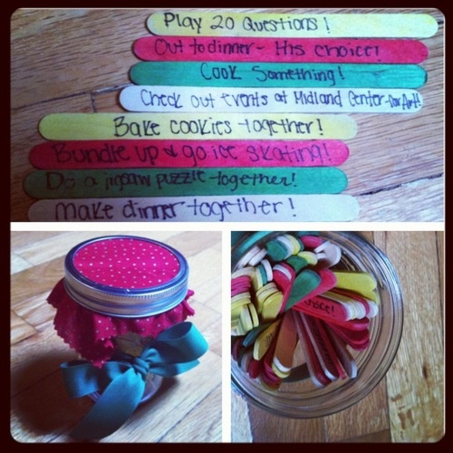Decisions (or dates) in a Jar…. For a boyfriend, or even little ones you babysit! - Collegiate and Crafty